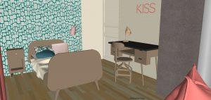 Vue 3D Chambre Fille